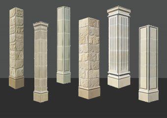 stonetile canada pillars